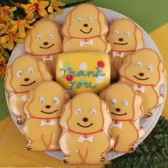 Pet Lover Thank You Cookies - Perfect for someone watching your dog for you!