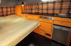 interior kombi - modo cama