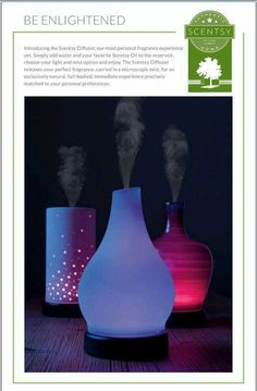 Scentsy Diffusers sept 2015 https://cathym.scentsy.us