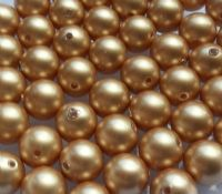 4mm SWAROVSKI® ELEMENTS Vintage Gold Crystal Pearl Beads - 50 pearls for jewellery making, beadwork and craft