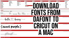HOW TO DOWNLOAD FONTS FROM DAFONT TO CRICUT DESIGN SPACE ON A MAC How To Make Paper, How To Make Bows, Commercial Use Fonts, Mac, Great Fonts, Cricut Creations, Circuit Board, Cricut Design, Overlays
