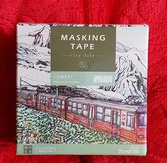 Fita Adesiva Washi Tape - para Scrap Book - em Papel de Arroz  Caixa contém 10 m de fita de 25 mm de largura.