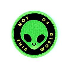 We out there - Embroidered patch with merrowed edge - Iron-on adhesive backing…