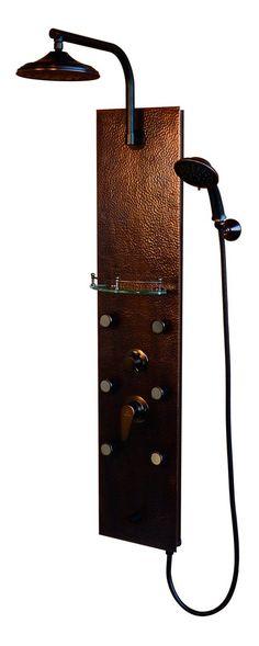 PULSE ShowerSpas Hammered Copper ORB Shower Panel - Sedona ShowerSpa – Still Waters Bath