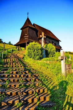 Old church on a hilltop in Brezany, Slovakia Bratislava, Places Around The World, Around The Worlds, Heart Of Europe, Cathedral Church, Old Churches, Church Building, Christian Church, Central Europe