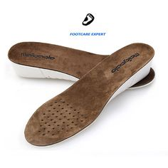3 CM Height Increase Insoles Soft Shoe Pads Deodorant Absorb Sweat Athletic Shoe Pads Cowskin Leather Foot Orthopedic Insoles