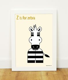 """Z is for zebra"" poster"