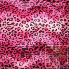 Dark Pink Furry Leopard www.distinctivefabric.com