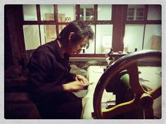 Manufacturing Smith & Norbu Horn frames at Wuhao Beijing Beijing, Horns, Frames, Horn, Crescent Rolls, Frame, Picture Frames, Antlers
