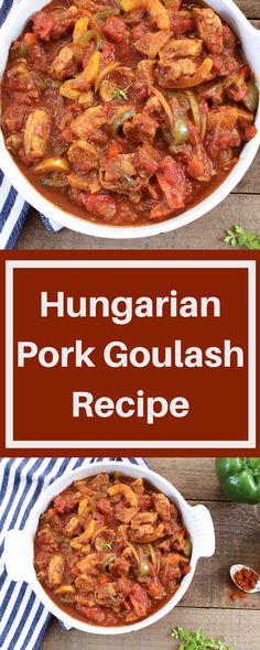 This is a tasty, easy traditional Hungarian recipe for pork goulash which the whole family will love and it's only 292 calories per portion! Pork Casserole Recipes, Stew Meat Recipes, Goulash Recipes, Pork Recipes, Cooking Recipes, Healthy Recipes, Chicken Recipes, Pork Goulash, Pork Stew Meat