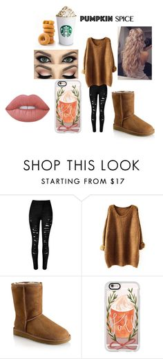 """🎃🎃🎃🎃"" by jazel117 on Polyvore featuring UGG, Casetify and Lime Crime"
