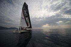 Le nuvole sarde. Sul mare di Cala Gonone, su bet1128 in navigazione sul Golfo di Orosei