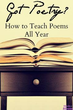 April is National Poetry Month, which is just around the corner. This post includes 25 ideas for teaching poetry to instill a love of poems in your kids! Teaching Poetry, Teaching Reading, Teaching Ideas, Teaching Resources, Writing Resources, Writing Activities, English Resources, Reading Strategies, I Am Poem