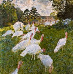 Claude Monet - The Turkeys