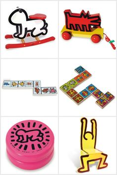Wooden Keith Haring Inspired toys | Vilac