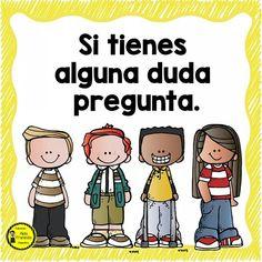 bien Classroom Rules, Spanish Classroom, Teaching Spanish, School Classroom, Classroom Decor, Classroom Language, School Clipart, Dual Language, Teacher Hacks