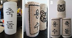 Korean 1st Birthday Blog: How To Make Your Own Dol Tower (Dol Go Im)