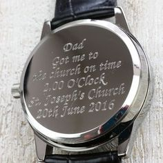 Father Of The Bride Watch - watches