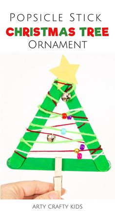 Looking for kids homemade Christmas ornaments? These popsicle stick Christmas tree ornament crafts for kids are cute   simple for children to make. Get instructions for these fun   easy popsicle stick Christmas tree ornaments for kids here! Christmas Tree Popsicle Stick Ornament | Popsicle Stick Crafts for Kids | Christmas Crafts for Kids | DIY Christmas Ornaments for Kids to Make | Christmas Ornaments Homemade Kids | Christmas Tree Crafts for Kids to Make Easy | Musical Crafts for Kids Stick Christmas Tree, Christmas Trees For Kids, Easy Christmas Ornaments, Christmas Crafts For Kids To Make, Christmas Tree Painting, Colorful Christmas Tree, Christmas Ornaments To Make, Homemade Christmas, Kids Crafts