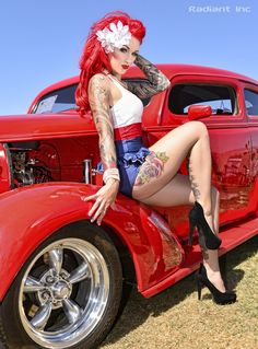 .she scratches that fender and.....