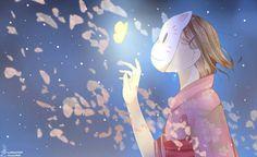 "Collab with *Chuuco~ This is from ""Hotarubi no mori e"".: Into the Forest of Fireflies' Light :. Kawaii Cute, Kawaii Anime, Kawaii Girl, Hotaru No Mori E, Character Illustration, Illustration Art, Illustrations, Manga Art, Anime Art"