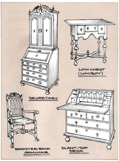 furniture period styles pictures | Furniture Periods and Styles William and Mary, 1690-1725. part 2 ...