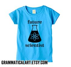 Future Scientist Shirt Kids Nerdy Baby Scientist Baby Toddler Shirt Baby Kids Clothes Science Baby Baby Boy Clothes Blue Boy Geeky Baby Gift (15.00 USD) by GrammaticalArt