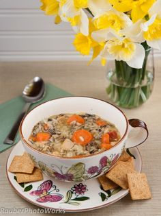 Carrots and Wild Rice Soup for an Arctic Blast