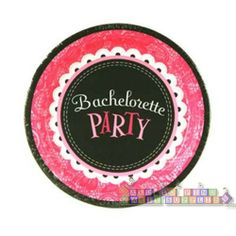 Bachelorette Party Small Paper Plates (8ct) || Hard To Find Party Supplies