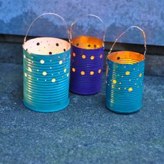 A perfect craft for Earth Day or Easter - upcycle your tin cans into gorgeous luminaries for your patio space, or for camping! Using this handy punch, you can c…