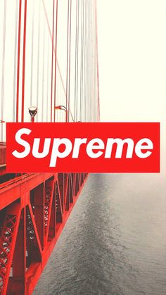 Supreme // Fond d'ecran // Iphone Wallpaper // Tendance // Logo // Fashion // clothing West coast Red