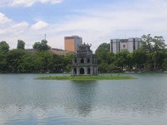 Turtle Tower also called Tortoise Tower is a small tower in the middle of Sword Lake, Hanoi, Vietnam.
