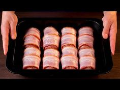 Bacon, Relleno, Hot Dog, Sausage, Food And Drink, Tasty, Make It Yourself, Pork Meat, Cooking Recipes