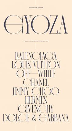 Introducing our new typeface, Gyoza - A contemporary, luxury, fashion-inspired condensed serif, that comes with uppercase & lowercase alternates and full of ligatures perfect for creating Fashion Typography, Design Typography, Lettering, Typography Inspiration, Typography Fonts, Graphic Design Inspiration, Branding Design, Luxury Graphic Design, Style Inspiration