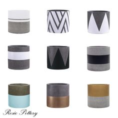 There are top 9 best sellers for the Hand-painted planters collection from us for the year of How do you think about this? Let share with us! Cement Flower Pots, Diy Concrete Planters, Concrete Pots, Diy Planters, Pots D'argile, Pots For Plants, House Plants, Painted Plant Pots, Beton Design