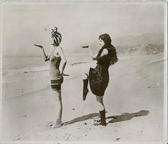 dance along the shore. circa 1920's. #flappers