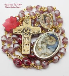 Pope Francis Rosary 206C made by Amy. http://onlinestore.tlicho.ca/products/pope-francis-rosary-206c
