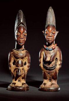 Yoruba Ere Ibeji (Twin Figure), Igbomina - Ila Orangun, Nigeria http://www.imodara.com/post/91986223869/nigeria-yoruba-ere-ibeji-twin-figure-igbomina