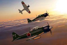Japanese Navy A6M5 Zeros 221st NAG