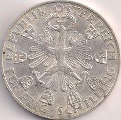 Wertseite: Münze-Europa-Mitteleuropa-Österreich-Schilling-50.00-1959-Tiroler Freiheit Austria, Diy And Crafts, Coins, Personalized Items, Vintage, Childhood Memories, Freedom, Money, Rooms