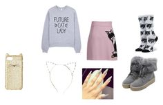 """Catz"" by candymwitherose ❤ liked on Polyvore featuring MSGM, WithChic, Stance and Kate Spade"