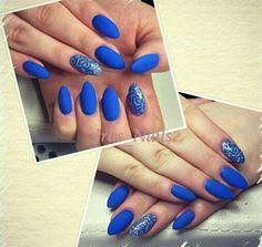 Blau royal sommer2016 nails Nägel matt mattnails mattenägel mattblau