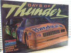 Monogram DAYS OF THUNDER #18 Hardees Lumina NASCAR 1/24th Model Kit 1990 Rlse #Monogram