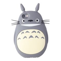 Totoro, to-to-ro... Your favorite forest friend, now available to carry with you wherever you go! This soft silicone iPhone case is made for anyone who doesn't mind a little magic in their pocket