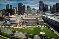 Denver Colorado event aerial view