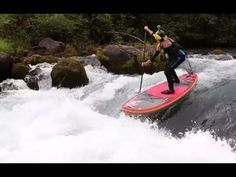whitewater SUP & SUP surfing behind paddleboat
