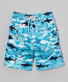 Look at this Navy Shark Boardshorts - Toddler & Boys by E-Land Kids Toddler Boys, Kids, Infant Toddler, Hippy Chic, Swim Shorts, Boy Fashion, Boardshorts, That Look, Navy