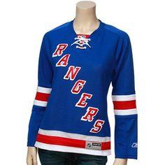 664a0cbcf Reebok New York Rangers Ladies Royal Blue Premier Hockey Jersey