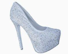 White Satin Rhinestone Platform Bridal Heels Pumps Shoes 8 5   eBay