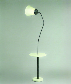 Eileen Gray / Lampadaire - Metal, wood, lacquered wood / circa 1925